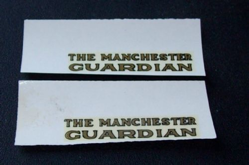 "Dinky Toys 28 Series Type 1 van ""MANCHESTER GUARDIAN"" Transfer Set TRANSFERS / DECALS"